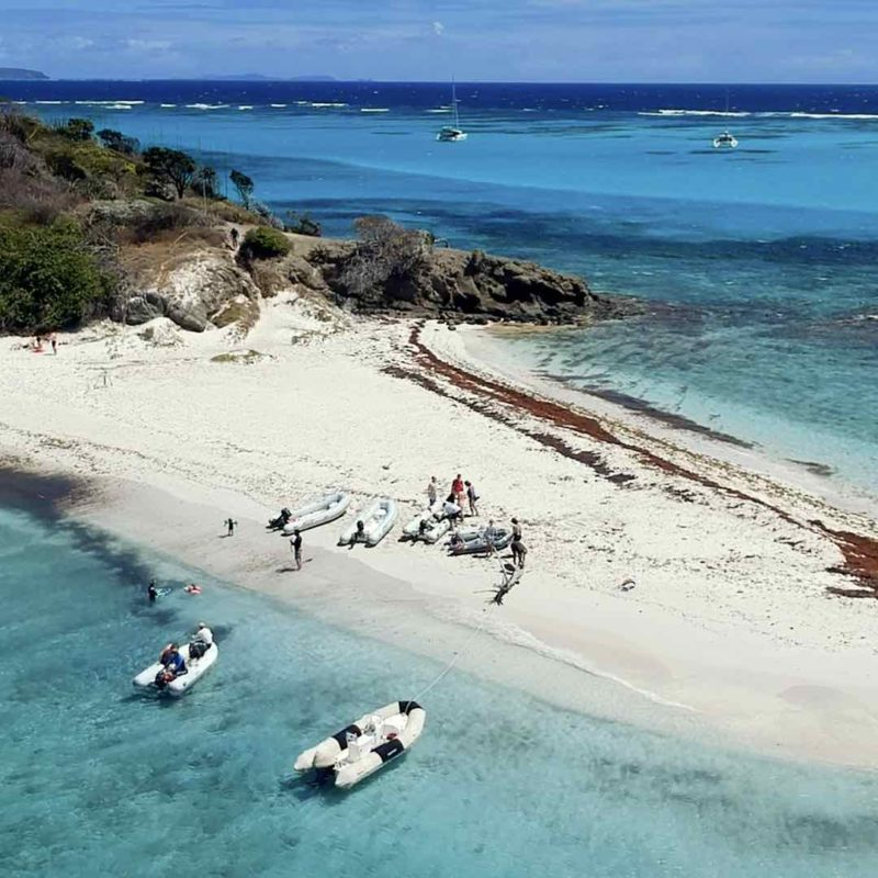 Plage aux iles Grenadines - Tobago Cays