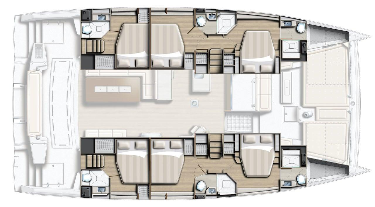 Bali 5.4 plan cabines