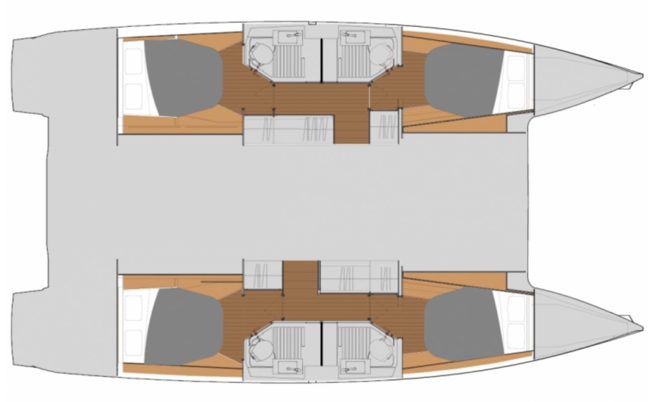 Astrea 42 - Plan Cabine