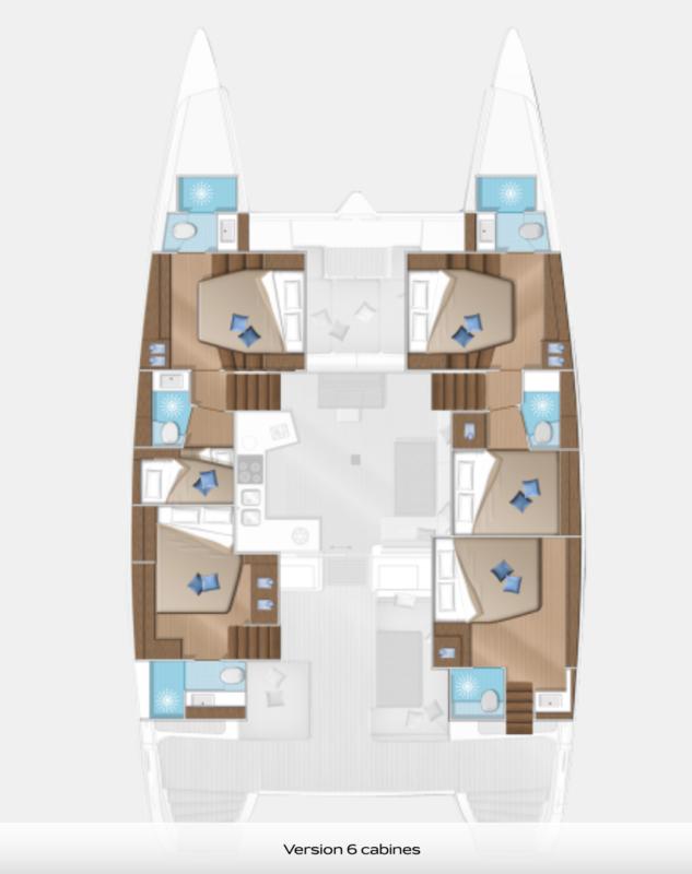 Lagoon 52 - Plan Cabine