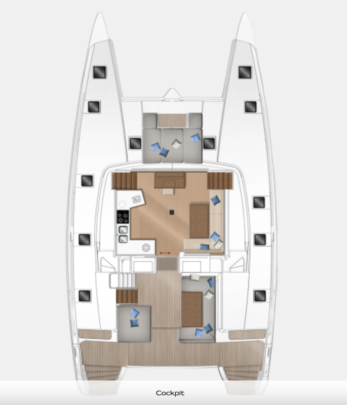 Lagoon 52 - Plan Cockpit